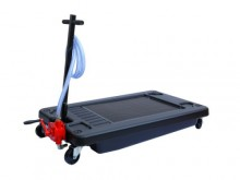 Art. HC17G Oil drainer low-profile HDPE 70L, rotary hand pump: iron