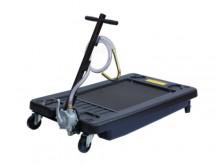 Art. HD17G Oil drainer low-profile HDPE 70L, rotary hand pump: aluminum