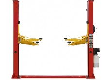 Two post lift T4D with single side manual lock release